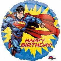 17 inch-es Happy Birthday - Superman Szuperhős Szülinapi Fólia Lufi