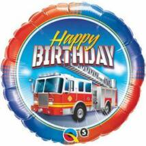 18 inch-es Birthday Fire Truck Születésnapi Fólia Lufi