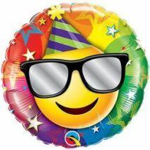 18 inch-es Birthday Smiley Születésnapi Fólia Léggömb