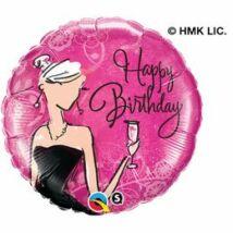 18 inch-es Fekete Ruhás Ünnepi - Birthday Black Dress Születésnapi Fólia Léggömb