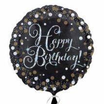 18 inch-es Happy Birthday Sparkling Születésnapi Fólia Léggömb