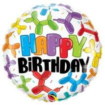 18 inch-es Lufikutya Mintás - Birthday Balloon Dogs Szülinapi Fólia Lufi