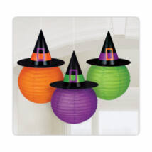 3 Paper Lanterns Witches' Crew Witch Hat Design 24 cm