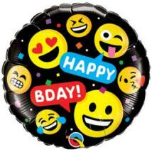 18 inch-es Smileys Smile - Faces - Emoji - Emotikon Mosolygó Arcok Szülinapi Fólia Lufi