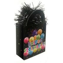 Boldog Szülinapot Fekete Ajándéktasak Léggömbsúly - 120 gramm