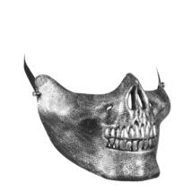 Metál csontváz félmaszk