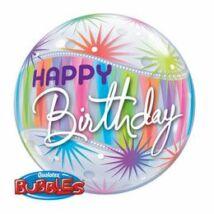 22 inch-es Birthday Sorbet Starburst Szülinapi Bubbles Léggömb