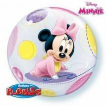 22 inch-es Disney Baby Minnie Bubbles Léggömb Babaszületésre