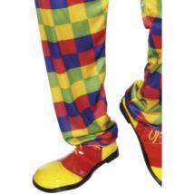 Piros sárga bohóc cipő