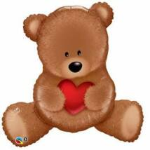 35 inch-es Teddy Bear Szerelmes Fólia Léggömb