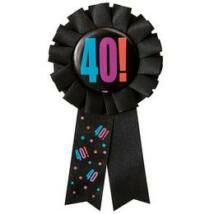 40. Számos Birthday Cheer Születésnapi Party Szalagos Jelvény