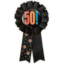 50. Számos Birthday Cheer Születésnapi Party Szalagos Jelvény