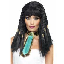 Fekete fonott Kleopátra paróka