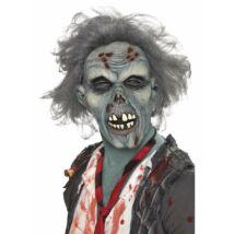 Szürke rothadó zombi maszk hajjal