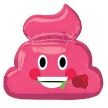 Emoji Pink Kaki Rózsa Virággal Szerelmes Super Shape Fólia Lufi