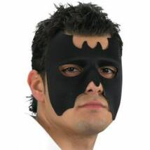 Fekete Batman Jellegű Denevér Álarc Halloween-ra