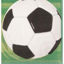 3-D Soccer - Focis Party Szalvéta - 33 cm x 33 cm, 16 db-os