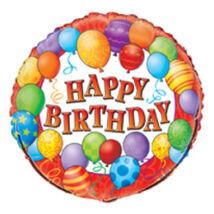 18 inch-es Birthday Balloons - Léggömbös Születésnapi Fólia Léggömb