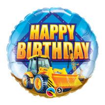 18 inch-es Markolóautó - Birthday Construction Zone Születésnapi Fólia Léggömb