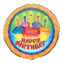 18 inch-es Cupcake Birthday - Sütis Születésnapi Fólia Léggömb