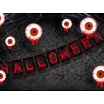 Piros fekete girland halloweenre