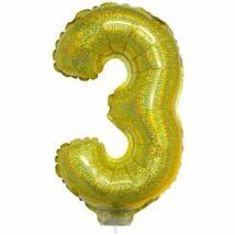 16 inch-es arany 3-as fólia lufi