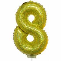 16 inch-es arany 8-as fólia lufi