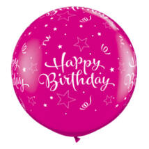 3 Feet-Es Birthday Shining Stars Wild Berry Szülinapi Lufi