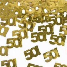 50! Szülinapi Számos Arany Konfetti - 15 gramm