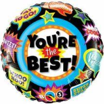 18 inch-es You're The Best Accolades Ballagási Fólia Léggömb