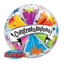 22 inch-es Congratulations Banner - Gratulálunk Bubble Léggömb Ballagásra