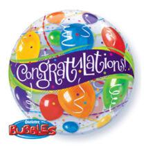 22 Inch-Es Congratulations Balloons - Gratulálunk Bubble Lufi