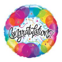 18 inch-es Gratulálunk - Congratulations Balloons Fólia Léggömb