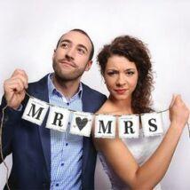 Mr. (Love) Mrs. Esküvői Füzér - 77 cm