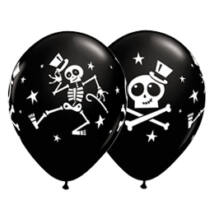 11 inch-es Dancing Skeleton and Top Hat Halloween Black Lufi