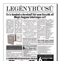 Tréfás Újság Legénybúcsúra