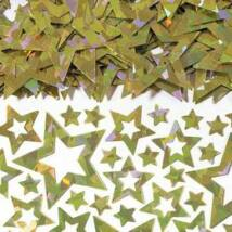 Arany Irizáló Fényes Csillag Alakú Fólia Parti Konfetti - 14 gramm