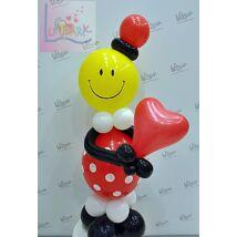 Szerelmes smiley dekoráció Valentin napra