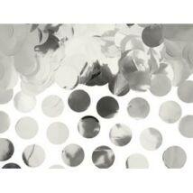 Nagy Kerek Fényes Ezüst Fólia Konfetti - 15 gramm
