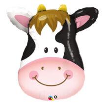32 inch-es Mosolygó Tehén Fej - Contented Cow Fólia Léggömb