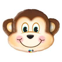 35 inch-es Mosolygós Majom Arc - Mischievous Monkey Szerelmes Super Shape Fólia Léggömb