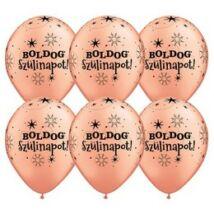 11 inch-es Boldog Szülinapot Feliratú Sparkle Rosegold Szülinapi Lufi
