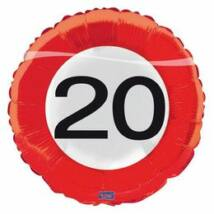 18 inch-es 20. Sebességkorlátozó Számos Születésnapi Fólia Léggömb