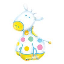 48 inch-es Zsiráf - Soft Giraffe Fólia Lufi Kisfiú Babaszületésre