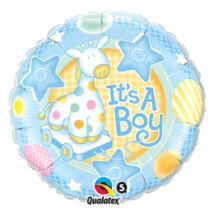 18 inch-es It is A Boy Soft Giraffe Baby Fólia Lufi Babaszületésre