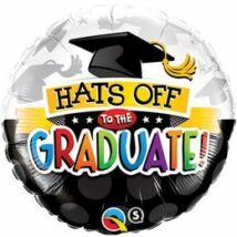 18 inch-es Hats Off To The Graduate! Ballagási Fólia Léggömb