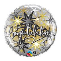 18 inch-es Gratulálunk - Congratulations Elegant Fólia Léggömb