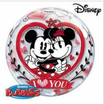 22 inch-es Disney bubbles Mickey & Minnie I Love You szerelmes léggömb