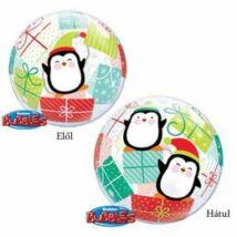 22 inch-es Penguins & Presents Karácsonyi Bubble Lufi