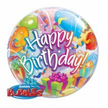 22 inch-es Birthday presents and balloons születésnapi bubble lufi